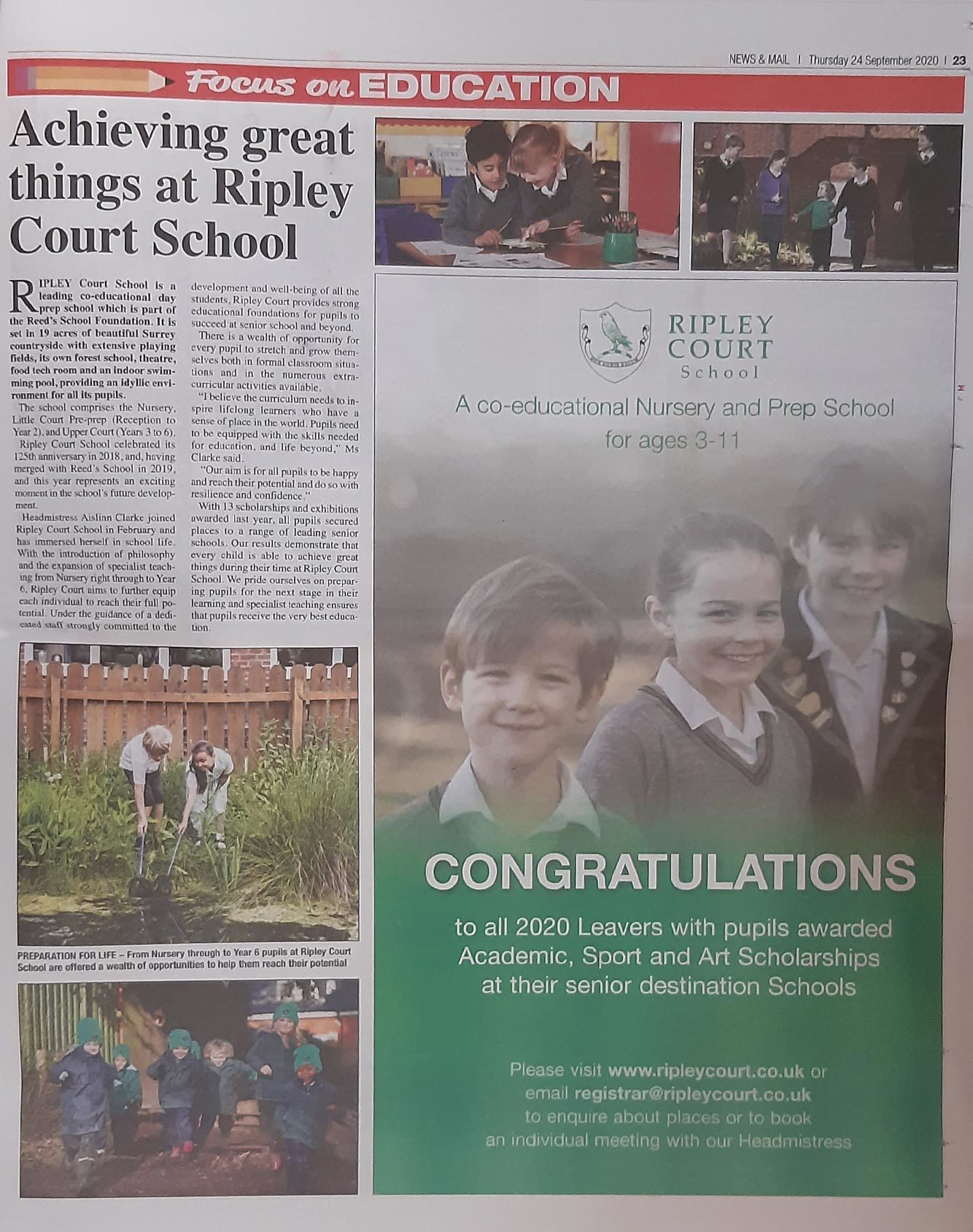 Woking News & Mail Editorial about Ripley Court
